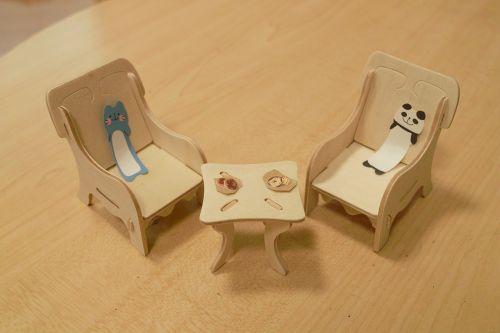 miniature woodwork chair