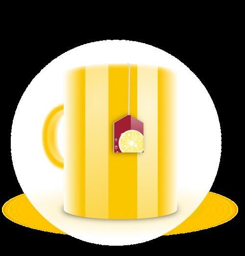 arbatos Maišelis,arbatos puodelis,puodelis,maistas,arbata,gėrimas,geltona,juostelės,nemokama vektorinė grafika