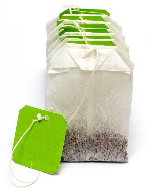 teabag tea label