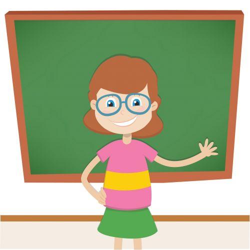 teacher blackboard teach