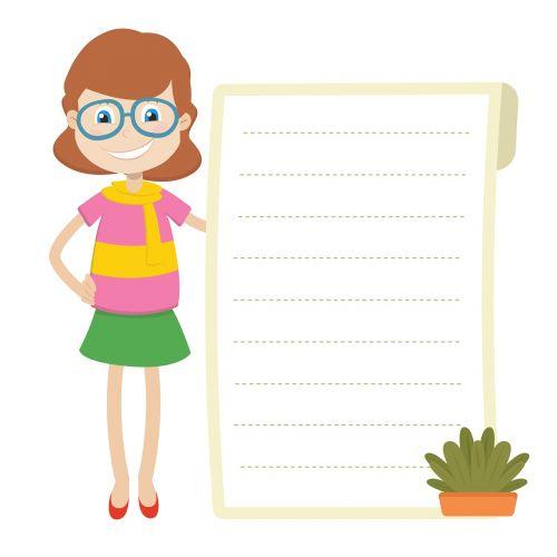 teacher paper woman