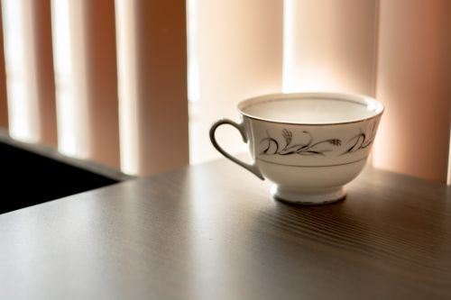 teacup ceramic table