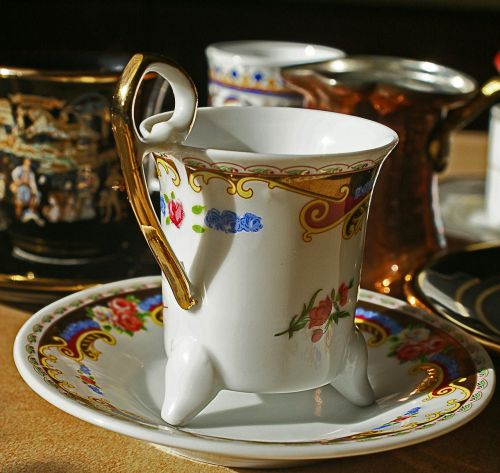 teacup utensils coffee ceramics
