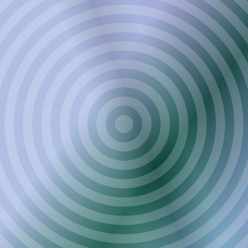 teal background concentric