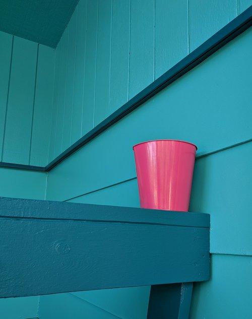 teal  blue  pink