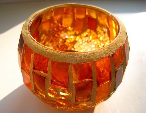 tealight candlestick mosaic tealight