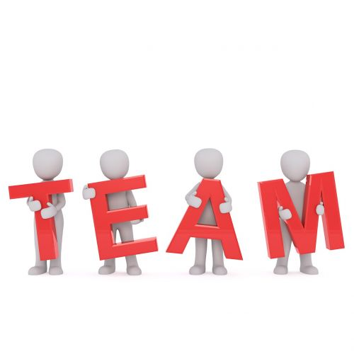 team colleagues human