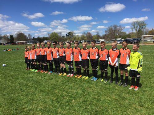 team soccer group