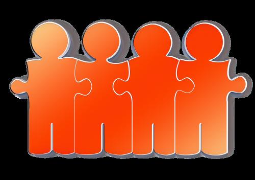 team businessmen cooperation