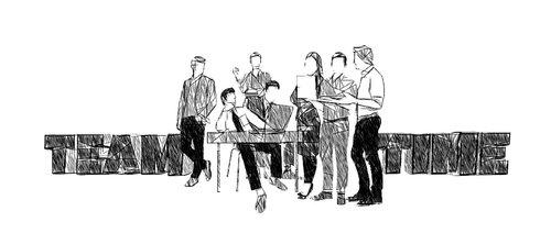 team  teamwork  drawing