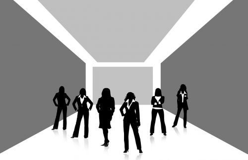 team group woman
