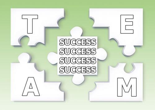 team puzzle success