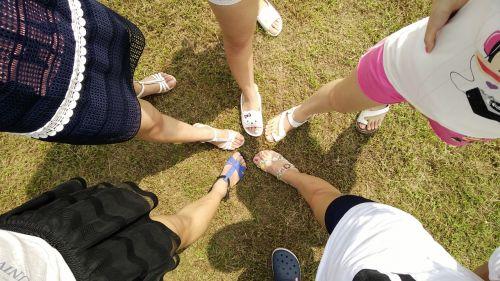 friends feet legs