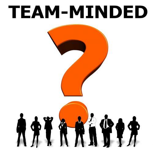 team spirit team question mark