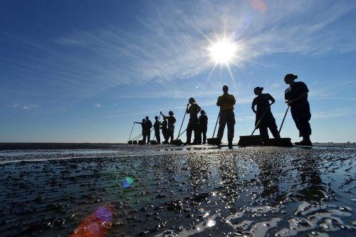 teamwork sailors silhouettes
