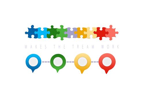 teamwork  team  puzzle