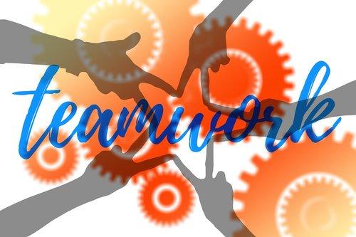 teamwork  team  hands
