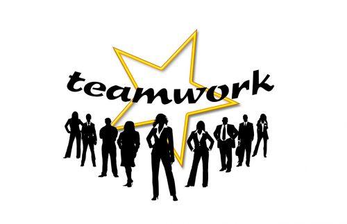 teamwork suit work