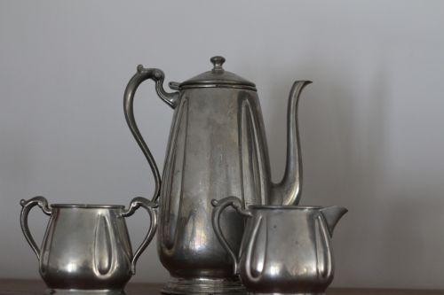 teapot pewter teatime