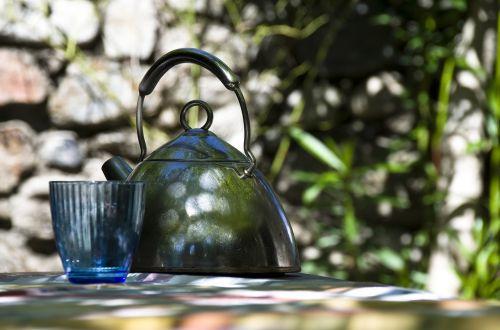 teapot water boiler metal