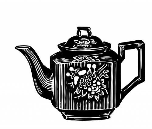 Teapot Clipart Illustration