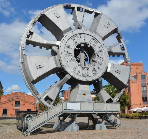 technologija,tunelio kėlimo gręžtuvas,Elbtunelio hamburgas,darbo muziejus,hamburgas,Barmbekas,trude