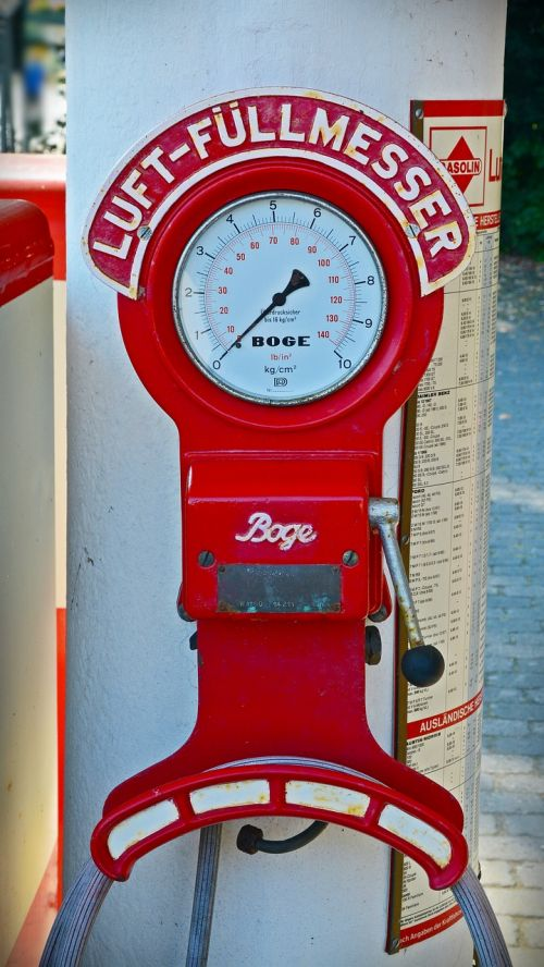 technology gauge petrol stations