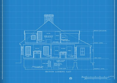 technology blueprint house drawing