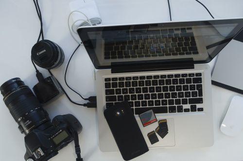 technology equipment photographer