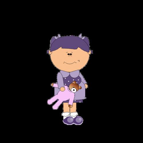 teddy bear girl