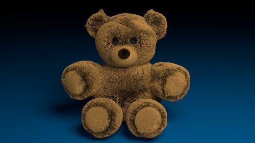 teddy blender 3d
