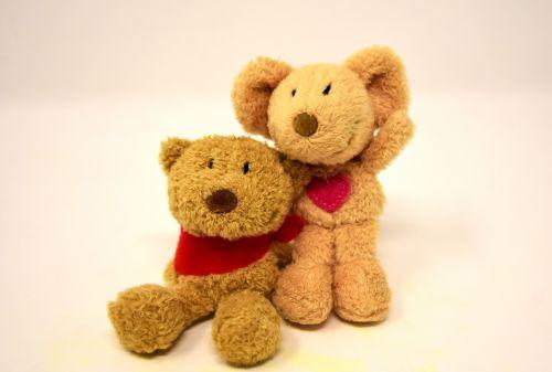 teddy mouse heart