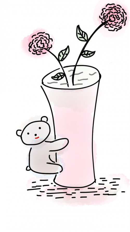 teddy bear vase flower vase