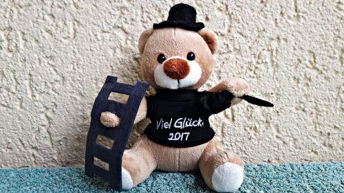 teddy bear chimney sweep happiness