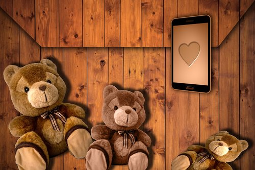 teddy bear  romantic  design