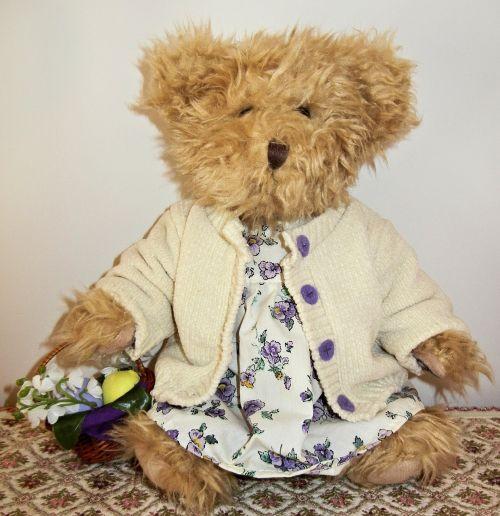 teddy bear cuddly clothed