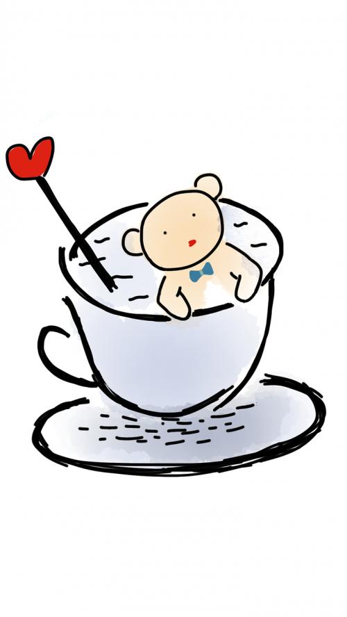 teddy bear in a cup cup teddy bear