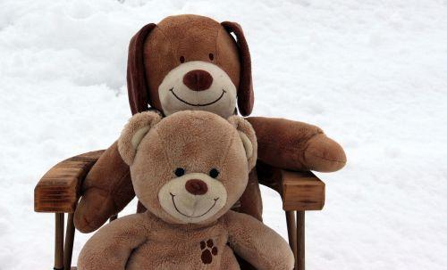 teddy bears embrace stuffed animal