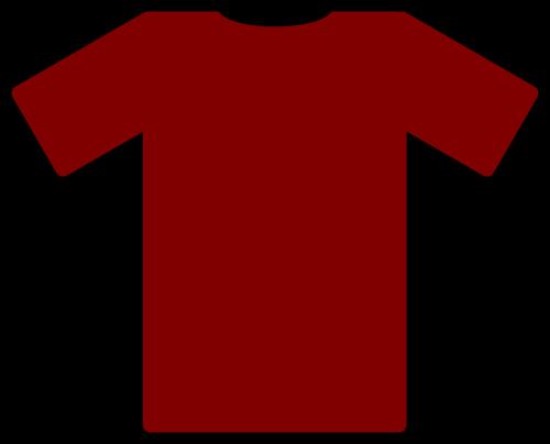tee shirt maroon