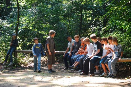 teenager youth forest