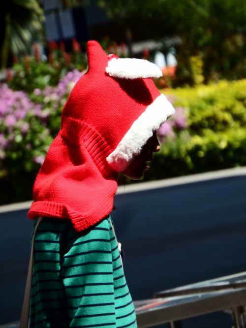 Teenager In A Christmas Hoodie