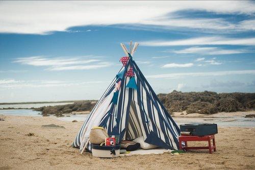 teepee  beach  summer
