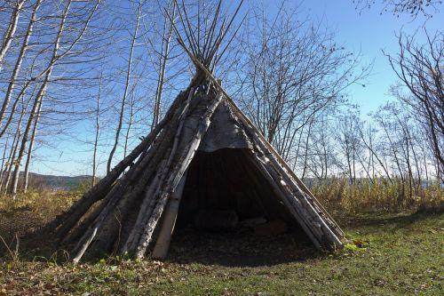 teepee indian birch bark