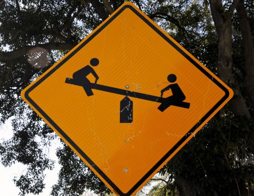 Teeter Totter Sign