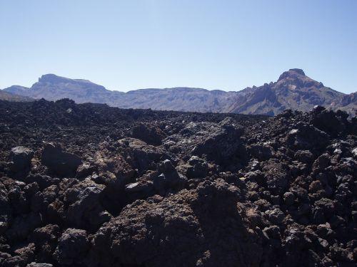 teide rocks volcanic stone