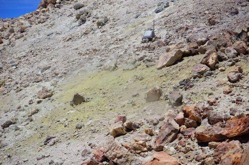 teide crater sulfur
