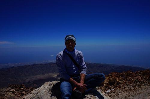 teide summit wanderer