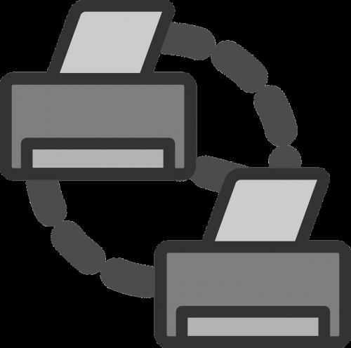 telefax facsimile connected printers