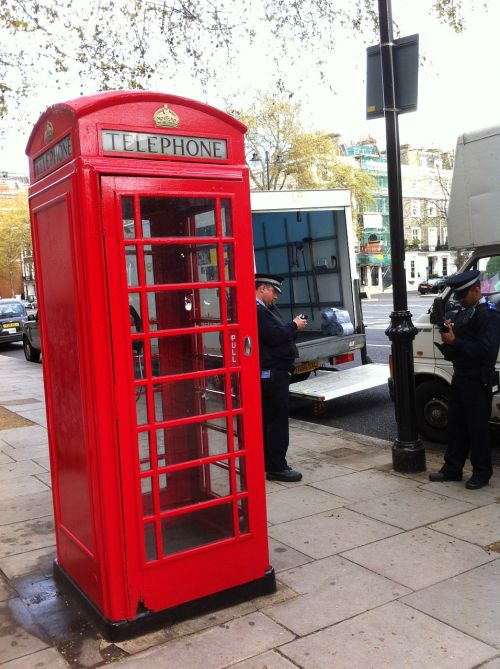 telephone booth red