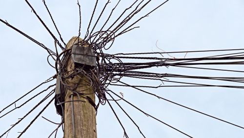 telephone telegraph pole